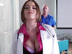 Doctor Krissy Lynn is fucked by one of her lucky peers tube porn video