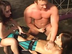 Stunning hardcore scene in BDSM style with spanking tube porn video
