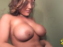 Sweet Claire Dames Deepthroats A Big Black Cock In A Gloryhole tube porn video
