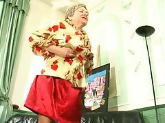 BBW Russian granny gets boned really hard tube porn video
