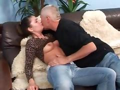 Old Guys vs Teens and they fuck tube porn video