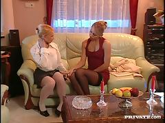 Lesbian Babes In Stockings Licking Their Hot Pussies tube porn video
