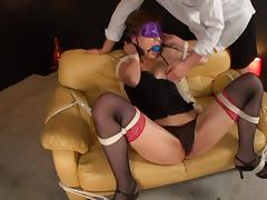 Kaho Kasumi hot Asian milf in sexy lingerie is massaged tube porn video