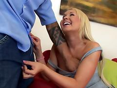 Interracial sex leaves Olivia with a mouthful of cum tube porn video