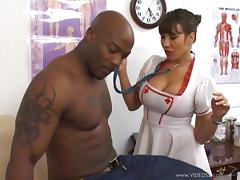 Nurse Ava Devine is fucked by a patient with a monster cock tube porn video