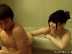 Curvy Japanese Giving A Hot Titjob In The Bathroom tube porn video
