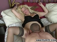 Naughty amateur Milf homemade action with creampie tube porn video