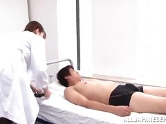 Naughty Japanese doctor is a dominating chick tube porn video