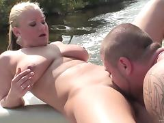 Zeta Kellie gets her pussy banged in a boat in hardcore reality clip tube porn video