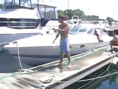 Non-Professional fuckfest on a boat tube porn video
