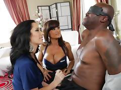 Sexy cops Lisa Ann & Jayden James arrest Lexington Steele and fuck him tube porn video