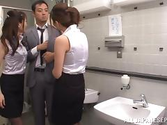 Adorable Yuna Shiina gets nailed in threesome tube porn video