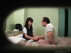 Japanese porn sweetheart and boyfriend banging caught on camera tube porn video