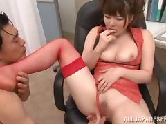 Voluptuous Japanese Babe In Fishnet Stockings Getting Hammered tube porn video
