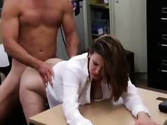 Foxy big boobs business lady pussy pounded in the pawnshop tube porn video