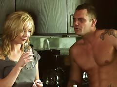 Kayden Kross gets teased in a naughty and hardcore kitchen banging tube porn video