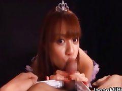 Asian princess babe gives a hot blowjob tube porn video
