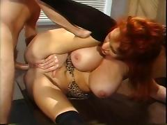 Vintage Red Head MILF Sex With Prison Guard tube porn video