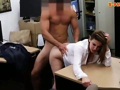Foxy huge boobs business lady screwed up for money tube porn video