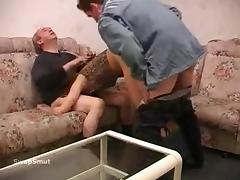 Father and son tag-team act tube porn video