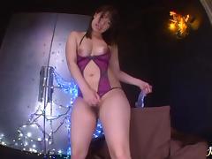 Dildo action and fishnet stocking banging An Shinohara tube porn video