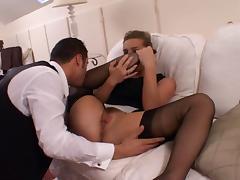 British Slut Louise in Black FF Stockings tube porn video