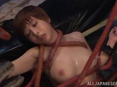Crazy Japanese fetish video of a chick fucking an alien tube porn video