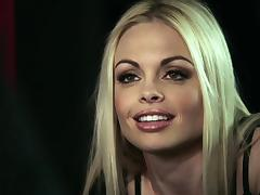 Blonde babes Jesse Jane and Madison Scott share a boner in a bar tube porn video