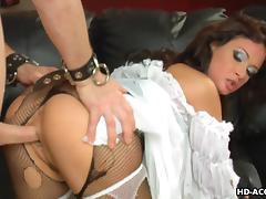 Sexy brunettes Jennifer Dark and Tory Lane satisfy three men tube porn video