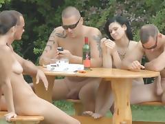 Group sex along nasty Diana Stewart tube porn video
