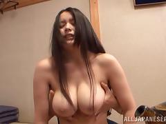 Chubby Asian cougar with big tits having her pussy fingered before being fucked hardcore tube porn video
